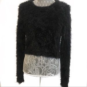 Brandy Melville Faux Fur Cropped Sweater Size Med